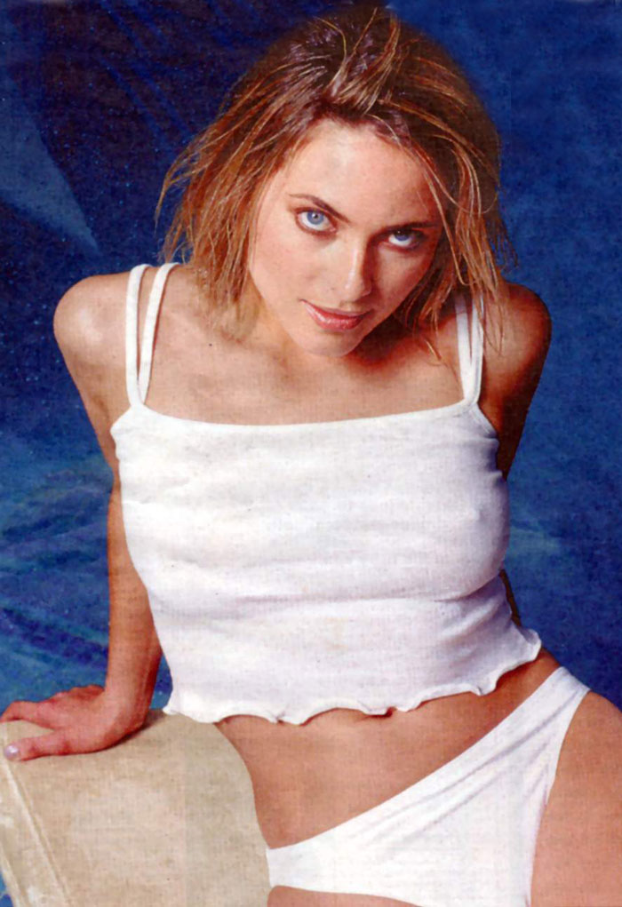 Lisa Rogers on bed